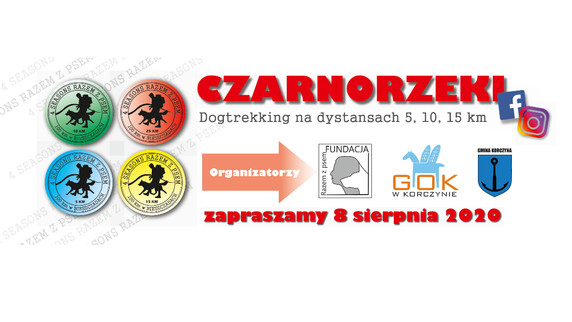 Informacja dotycząca dogtrekkingu w Czarnorzekach 08.08.2020